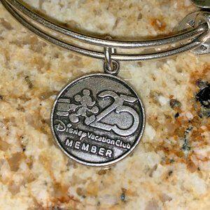 Alex & Ani DVC 25th Anniversary Silver BRACELET